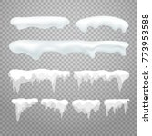 vector icicles and snowcap... | Shutterstock .eps vector #773953588
