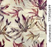 imprints abstract flowers and... | Shutterstock . vector #773953699