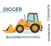 modern solid building machine... | Shutterstock .eps vector #773955979