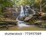 waterfall in the rainforest... | Shutterstock . vector #773957089