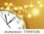 happy new year 2018 background...   Shutterstock .eps vector #773957158