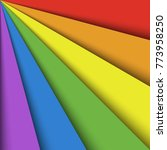 overlapping colorful paper... | Shutterstock .eps vector #773958250