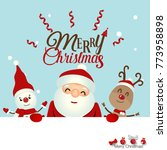 christmas greeting card with... | Shutterstock .eps vector #773958898