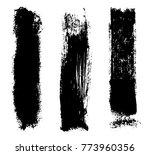 grunge brush strokes.vector... | Shutterstock .eps vector #773960356