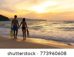 summer vacation.  couple... | Shutterstock . vector #773960608