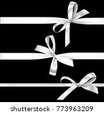 vector set of decorative silver ... | Shutterstock .eps vector #773963209