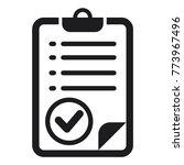 checklist icon  check mark... | Shutterstock .eps vector #773967496
