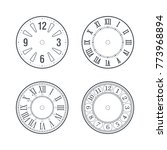 clock face set with roman and... | Shutterstock .eps vector #773968894