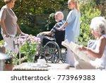 nurse and senior people... | Shutterstock . vector #773969383
