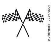 race flag icon  simple design... | Shutterstock .eps vector #773970004