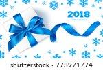 happy new year 2018.decorative...   Shutterstock .eps vector #773971774