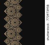 golden frame in oriental style. ... | Shutterstock .eps vector #773973958