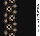 golden frame in oriental style. ... | Shutterstock .eps vector #773974084