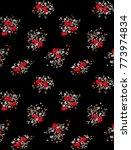 flowers art design pattern  | Shutterstock . vector #773974834