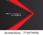 abstract red arrow on dark gray ... | Shutterstock .eps vector #773974990