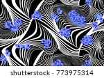 line geometric and flowers... | Shutterstock . vector #773975314