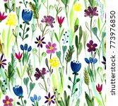 watercolor seamless pattern... | Shutterstock . vector #773976850
