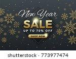 new year sale background banner ... | Shutterstock .eps vector #773977474