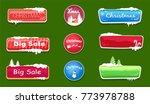 set of winter theme glossy web...   Shutterstock .eps vector #773978788