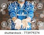 doctor offers procurement text... | Shutterstock . vector #773979274