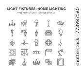 light fixture  lamps flat line... | Shutterstock .eps vector #773987560