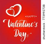 valentines day vintage...   Shutterstock .eps vector #773992738