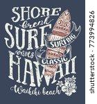 classic surfing hawaii  vintage ... | Shutterstock .eps vector #773994826