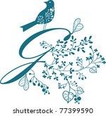 hand drawing alphabet letter g | Shutterstock .eps vector #77399590