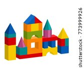bright colorful wooden blocks... | Shutterstock .eps vector #773999926