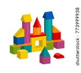 bright colorful wooden blocks... | Shutterstock .eps vector #773999938