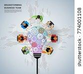 idea concept for business... | Shutterstock .eps vector #774001108