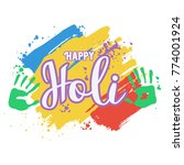 holi banner  indian holiday ... | Shutterstock .eps vector #774001924