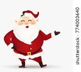 happy merry christmas. cartoon... | Shutterstock .eps vector #774003640