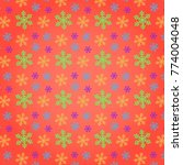 snowflakes pattern vector...   Shutterstock .eps vector #774004048