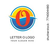 travel beach logo with letter o   Shutterstock .eps vector #774004480