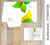 floral folder template design... | Shutterstock .eps vector #774004738