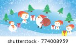 christmas card with santa claus ... | Shutterstock .eps vector #774008959