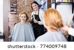 young woman in hairdressing... | Shutterstock . vector #774009748