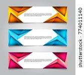 vector design banner background. | Shutterstock .eps vector #774011140