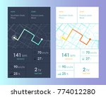 vector city map with route and... | Shutterstock .eps vector #774012280
