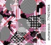 seamless pattern ethnic design. ... | Shutterstock . vector #774019816