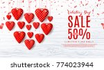 promo sale web banner with red... | Shutterstock .eps vector #774023944