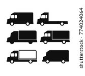 truck icons set. lorry... | Shutterstock .eps vector #774024064