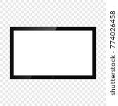 realistic tv screen | Shutterstock .eps vector #774026458