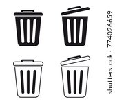 Trashcan Set   Vector Icons