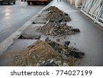 construction piles of sand ...   Shutterstock . vector #774027199