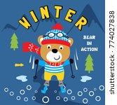 sky winter animal cartoon vector   Shutterstock .eps vector #774027838