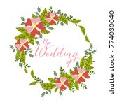hand drawn the wedding of... | Shutterstock .eps vector #774030040