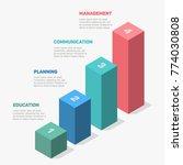 isometric infographics  4 steps ... | Shutterstock .eps vector #774030808
