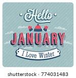 hello january typographic... | Shutterstock .eps vector #774031483